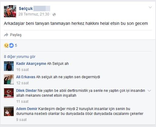 facebook intihar